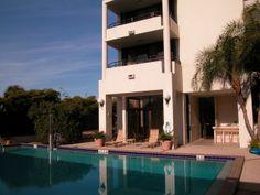 Swimming pool at Bay Plaza condos in Sarasota, Florida