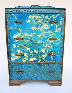 Van Gogh Cherry Blossoms Dresser https://www.etsy.com/listing/54742484/antique-deco-van-gogh-dresser