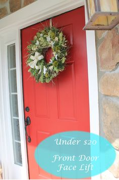 Budget Friendly Front Door Makeover!!!