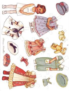 july paper doll