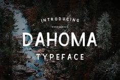 Dahoma typeface by Hand Lettering Shop on @creativemarket