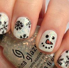 cute Christmas nails <3