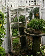 garden mirror Outdoor Garden Furniture, Outdoor Rooms, Outdoor Gardens, Outdoor Living, Garden Mirrors, Garden Doors, Outdoor Mirror, Vertical Garden Design, Garden Stepping Stones