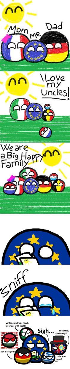 EU misses the old days... (Europe) by Captain Costa #polandball #countryball