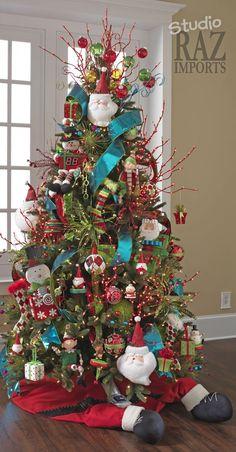 Multi - Colored Christmas Tree- fun for kids