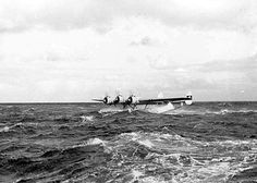Dornier Do 24-V3 (D-ADLP), attempting to take off from rough water.