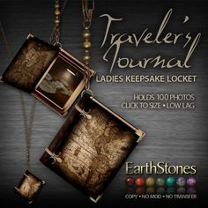 EarthStones Traveler's Journal Locket - Ladies (GIFT BOX)