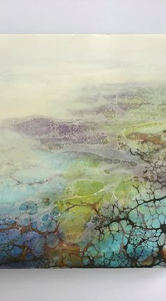 Organic Art, Alcohol Ink Art, Encaustic Painting, Abstract Flowers, Art Portfolio, Painting Inspiration, Lovers Art, Online Art, Artist