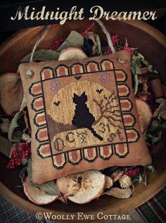 Midnight Dreamer Halloween Cross Stitch Chart by WoollyEweCottage