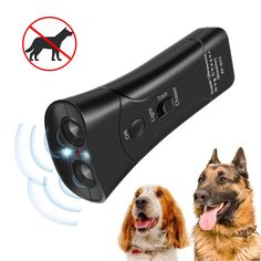 Windyeu Anti Barking Device Ultrasonic Dog Bark Deterrent Control Devices,Stop Barking,Training Tool,LED Flashlight,Handheld Dual Channel Dog Repellent Trainer Good Behavior,100/% Pet/&Human Safe