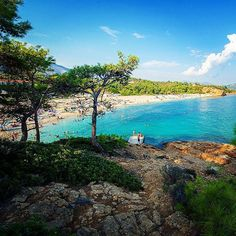 Trypiti Beach is close to Limenaria. It is very beautiful and with green scenery.  Sandy beach and well organized.