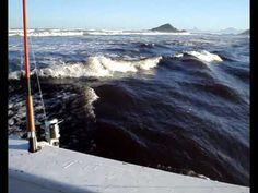 Pescaria em Itanhaem - Mar em Fúria