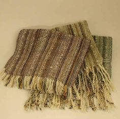 Woven Scarves by Circle Craft member Diane Mortensen