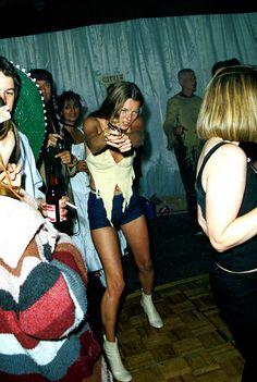 Kate Moss au 50ème anniversaire de Ronnie Woods à Londres, 1991