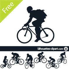 Bicycler vector silhouette