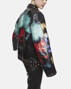 Undercover Paint Explosions Leather Blouson Jacket Nick Knight Colour Pigment SS16 Jun Takahashi