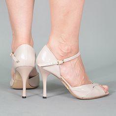 Buty tangowe 1928 pudrowy róż