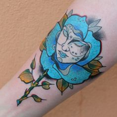 Rose neo traditional tattoo (Laura Palmer -Twin Peaks theme) by TONDRIK TATTOO, PRAGUE. Do not copy please! #tondriktattoo