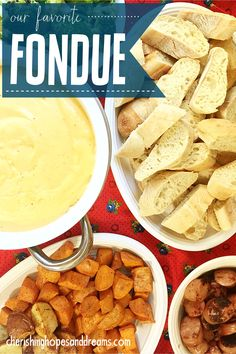 Our very favorite recipe to entertain with, FONDUE!  Recipe includes tips on how to serve if you don't have a fondue pot!  | Hopes and Dreams