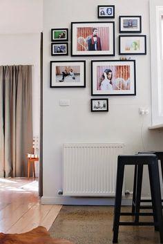 Foto composición basada en variedad de tamaños #wall #frame #desing #idea #cuadros #enmarcar #vigo #alvix