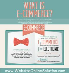 WebsiteOnlineSolution.com is pleased to introduce an educational infographic titled What is E-Commerce that details the history and the impact of online commerce.
