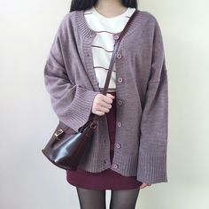 Reversible Loose Fit Knit Cardigan | MIX X MIX | Shop Korean fashion casual style clothing, bag, shoes, acc and jewelry for all