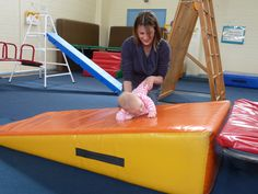 Babies need lots of activities to encourage rolling, using both sides of their body. Seacliff KinderGym provides lots of opportunities for children to roll.