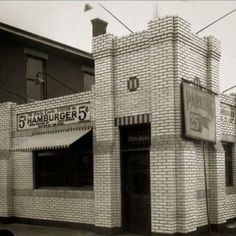 Early White Castle in Indianapolis, Indiana - this was my FAVORITE place to eat!