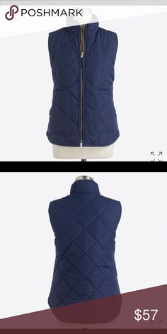 J Crew quilted puffer vest Adorable vest, worn only once, paid $80 for It so please keep offers realistic! Thanks :) zips, has pockets, and not super puffy, perfect for a fall day! J. Crew Jackets & Coats Vests
