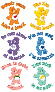 carebears♡ is it weird that they still make me insanely happy, just looking at them? At 30?
