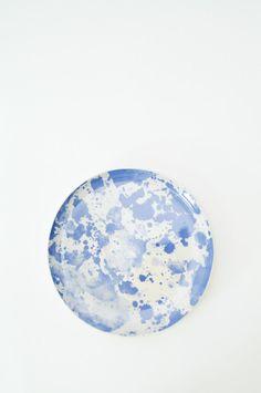 Watercolor Plate - Blue
