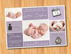 Ausgefallene Dankeskarten Baby Geburt 229 - Bild vergrößern
