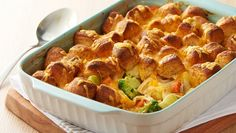 The Old Bay™ seasoning adds a new flavor twist to this traditional cheesy chicken biscuit bake.