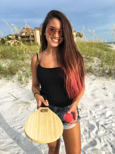 Love Vero Frescobol Bamboo beach paddles..