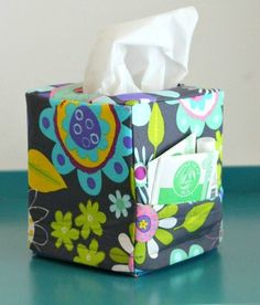 Sniffles Be-Gone Tissue Box Cover | AllFreeSewing.com