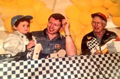 Back in the day, Chase with his dad Bill Elliott. So cute :)