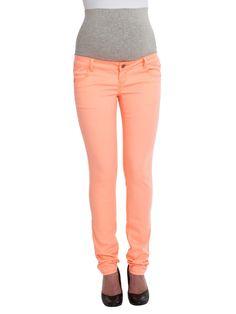 Mooie neon broek van Mamalicious, de trend voor komende zomer. Lekker FEL!