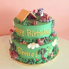 Camping Theme Birthday Cake / 2tarts Bakery / New Braunfels, TX / www.2tarts.com