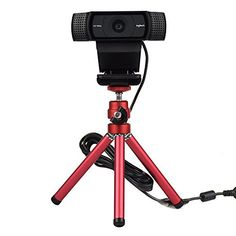 Webcam Tripod Mount Holder Stand for Logitech Webcam C922x C922 C930e C930 C920 C615 (Red) #Webcam #Tripod #Mount #Holder #Stand #Logitech #(Red)