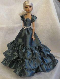Ellowyne, TAFFETA RUFFLES AND SEQUINS 2pc Gown, by beautifulgrace via eBay, SOLD 12/20/13  US $206.11