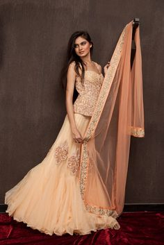 Beautiful peach lehenga