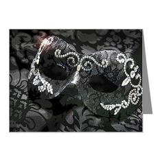 Dazzling Midnight Masquerade Note Cards (Pk of 20)