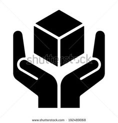 Handle with care sign on white background, vector illustration
