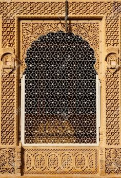 Ornate Window Of Beautifolu Haveli In Jaisalmer City In India... Stock Photo, Picture And Royalty Free Image. Image 12099446.