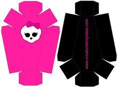 molde caixão Festa Monster High, Monster High Birthday, Monster High Party, 5th Birthday, Birthday Parties, Barbie, Party In A Box, Werewolf, Couture