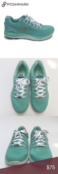 Nike Tiffany Blue Limited Edition Fly Knits 7.5 Nike Sneakers Lunarlon Tiffany Blue Running Shoes Limited Edition Nike Women's Marathon 2012 San Francisco, Satin Laces with Silver Tips Sport: Running Size: 7.5 US 38 EU   Color: Tiffany Blue  Pattern: Fly Knit Upper: Material Lining: Material Sole: Man Made Country: Vietnam Style #: 580402-301 Condition: Pre-Owned Excellent - Worn 2 - 3 times always indoors! Comes from a pet and smoke free environment!   WT: 1.4 SKU: WAS005; PC All…