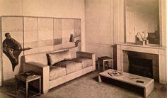 Living-Room, Claire Artaud's flat, 1936- Design by Jean-Michel Frank