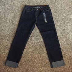 Dark Denim Stretchy Skinny Jean Capri's Dark Denim Stretchy Skinny Jean Capri's, super cute, brand new with tags, smoke free home. Size 13 Jeans Ankle & Cropped
