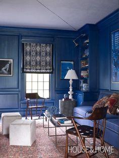 Thom Filicia's Blue Living Room | House & Home