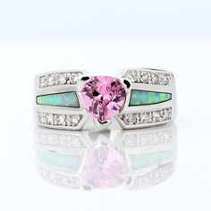 Created fashion opal and pink sapphire # 6 7 8 9 10  . Starting at $10 on Tophatter.com!